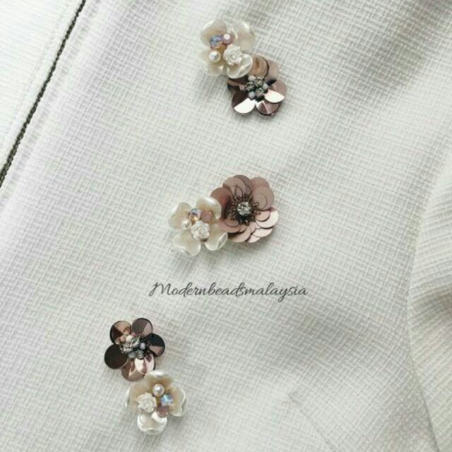 66aef9f4d3 Loose Set 3D Beads Sequin Pearl Crystal