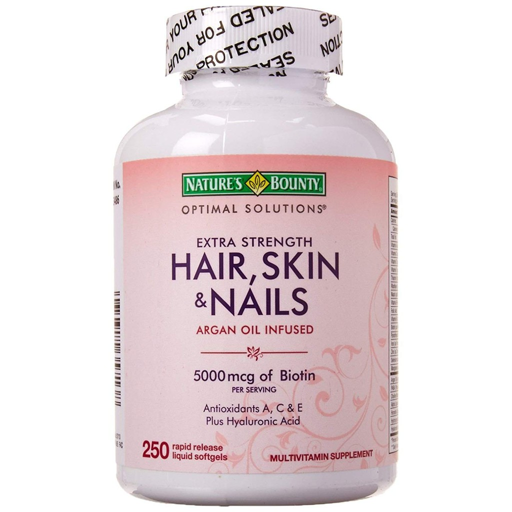 Natures Bounty Extra Strength Hair Skin Nails 250 Softgels