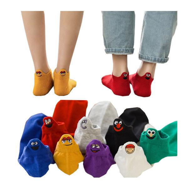 ถุงเท้าผ้าฝ้ายพิมพ์ลาย สำหรับผู้หญิง