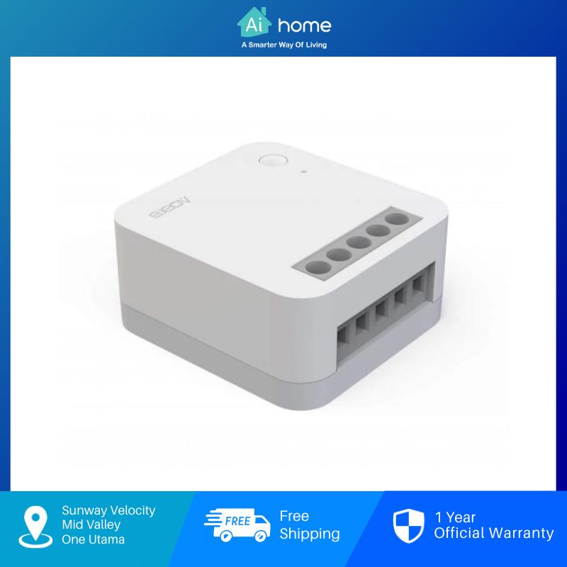 Aqara Single Switch Module T1 ( With Neutal ) Zigbee 3.0 | 2 Way Switch Support | Power Off Memory [ Aihome ]