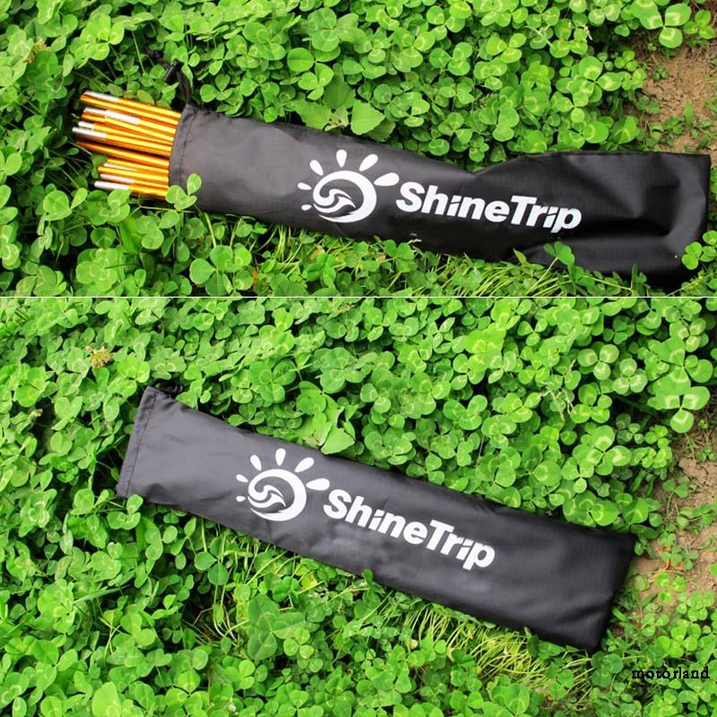 Tent pole bag Trekking Awning Storage Black Holder Camping Accessories