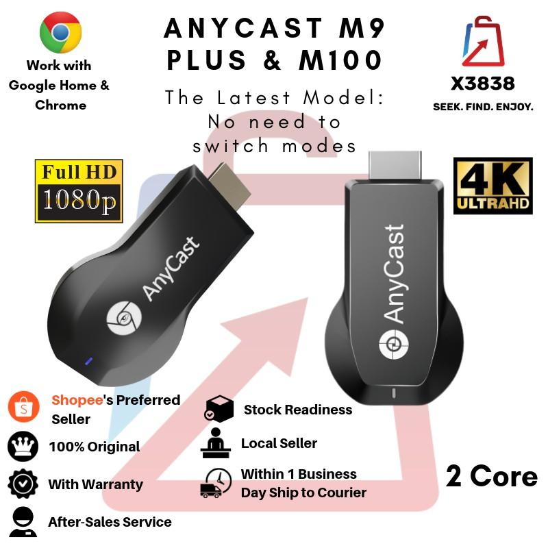 Genuine Anycast M9 Plus HD 1080P & M100 Plus UHD 4K Wireless WiFi  Chromecast Miracast DLNA Airplay TV Dongle HDMI