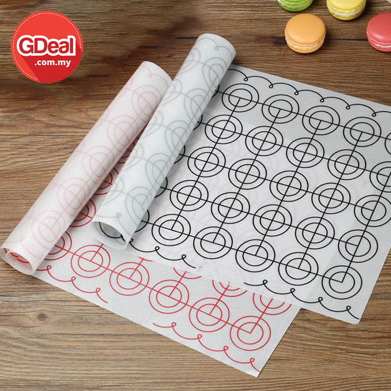 GDeal Home Baking High temperature Resistant Macaron Silicone Mat Soluble Bean Cookies Baking