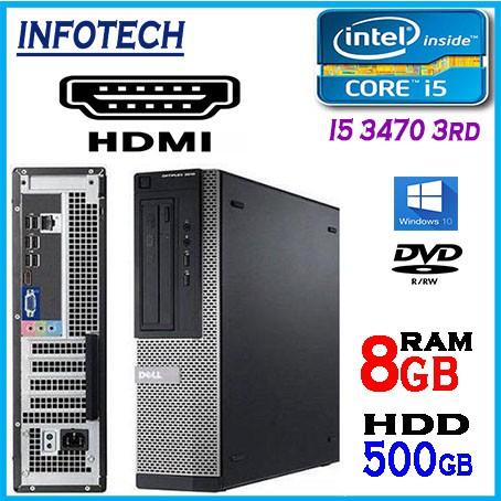 HDMI ~ Dell optiplex GX3010 i5 3470 3rd 500GB 8GB W10 DESKTOP PC CPU 7010  3010