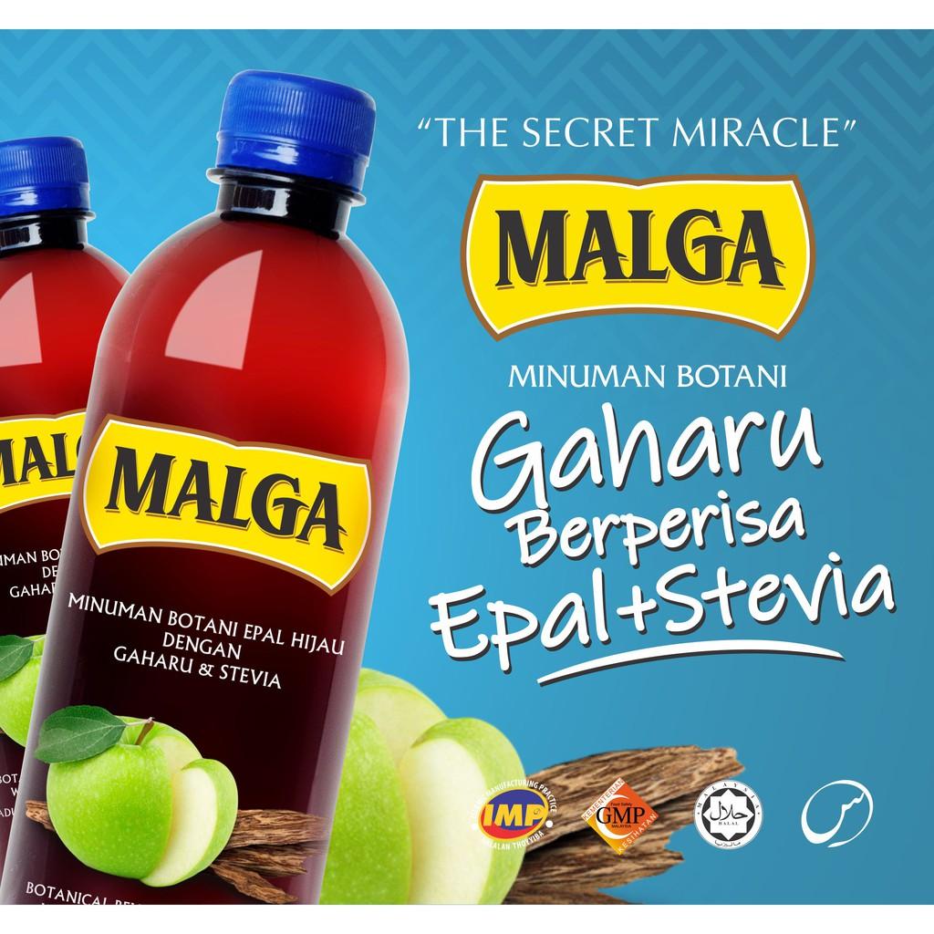 MALGA Gaharu Berperisa Epal + Stevia