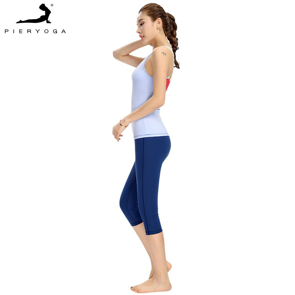 3cb89324220cd3 💕 Pieryoga Women High Collar Yoga Clothing Strapless Stretch T-shirt Gourd