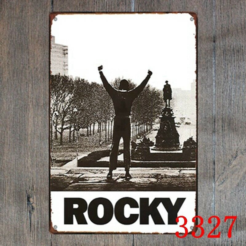 Metal Tin Sign rocky movie Decor Bar Pub Home Vintage Retro Poster