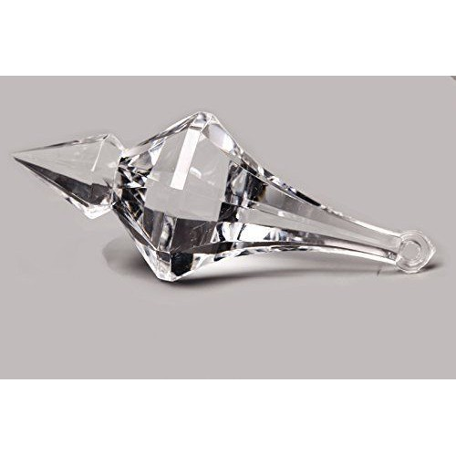 "50 Pcs 1 3//4/"" Acrylic Crystal Bead Pendant Drops Wedding Decorations Chandelier"