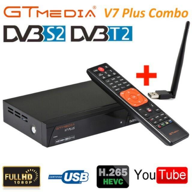 Original GTMEDIA /'V7 PLUS CCCAM Combo DVB S2+T2 tv receiver set top box  H 265