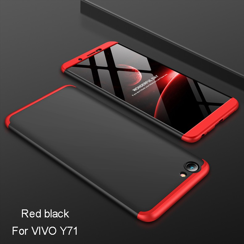 premium selection 2738a 05843 For VIVO Y71 3 in 1 Combo 360° Full Protection Ultra Slim PC Phone Case  Cover
