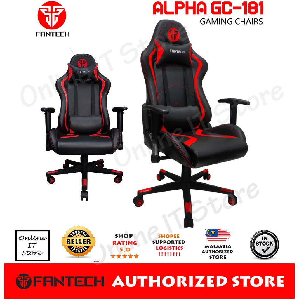 FANTECH ALPHA GC-184 Stability & Safety Hydraulic Gaming Chairs   Shopee Malaysia