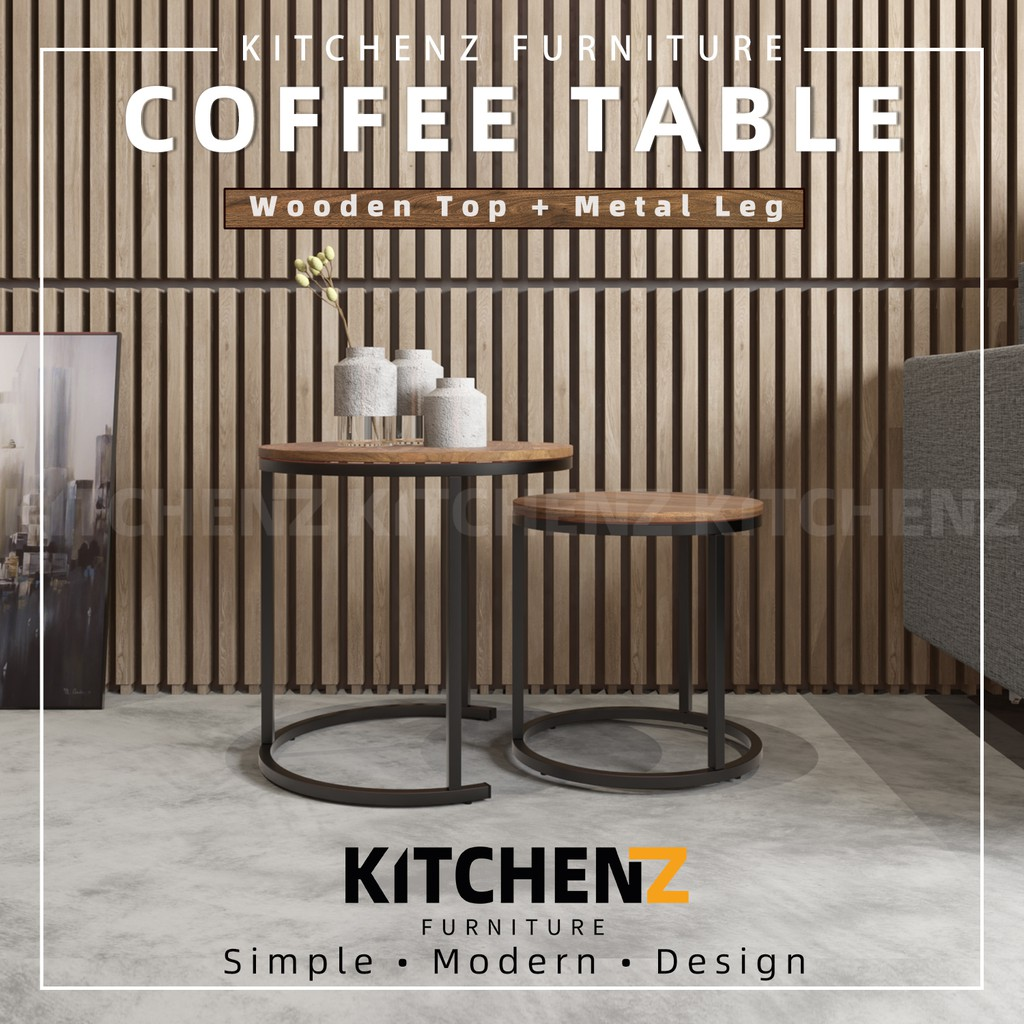 KitchenZ Noble Series 1.5FT Coffee Table Modernist Design Solid Board - HMZ-FN-CT-N3003-CN