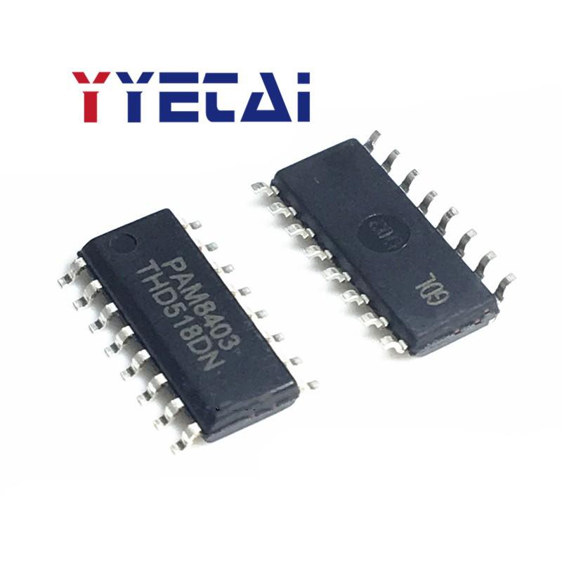 20PCS New Patch PAM8403 3W*2 Filterless Stereo D-Class Audio Amplifier  SOP-16