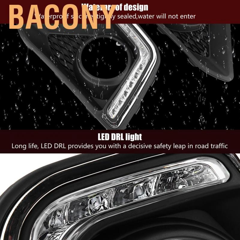 2X 12V 6W Waterof Universal Car COB LED Daytime Running DRL Strip Fog Lamp Hot