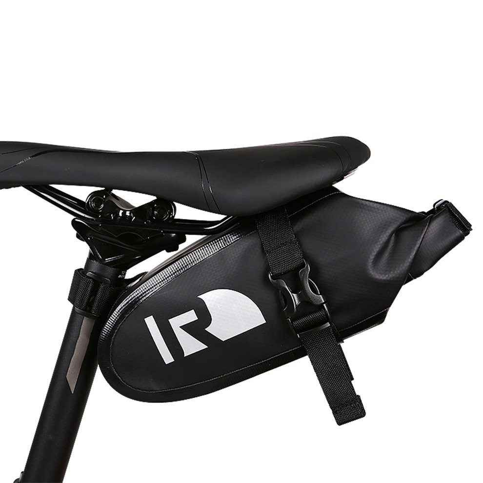 1 RACE-READY..Triangle Bike Saddle Bag with Tube Kit...Cycling Tool Bag...Black