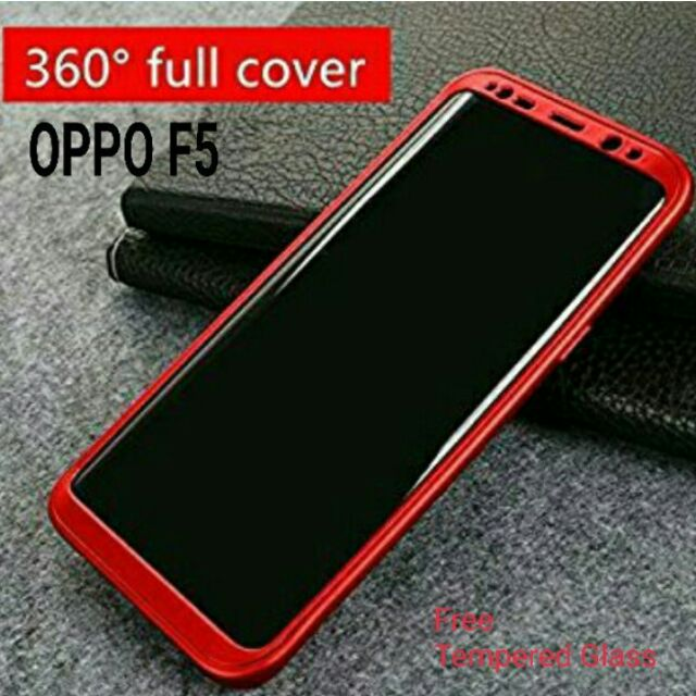 reputable site 8ac3e c3c8c OPPO F5【360° Full Cover Protect】 with Screen Protector Casing