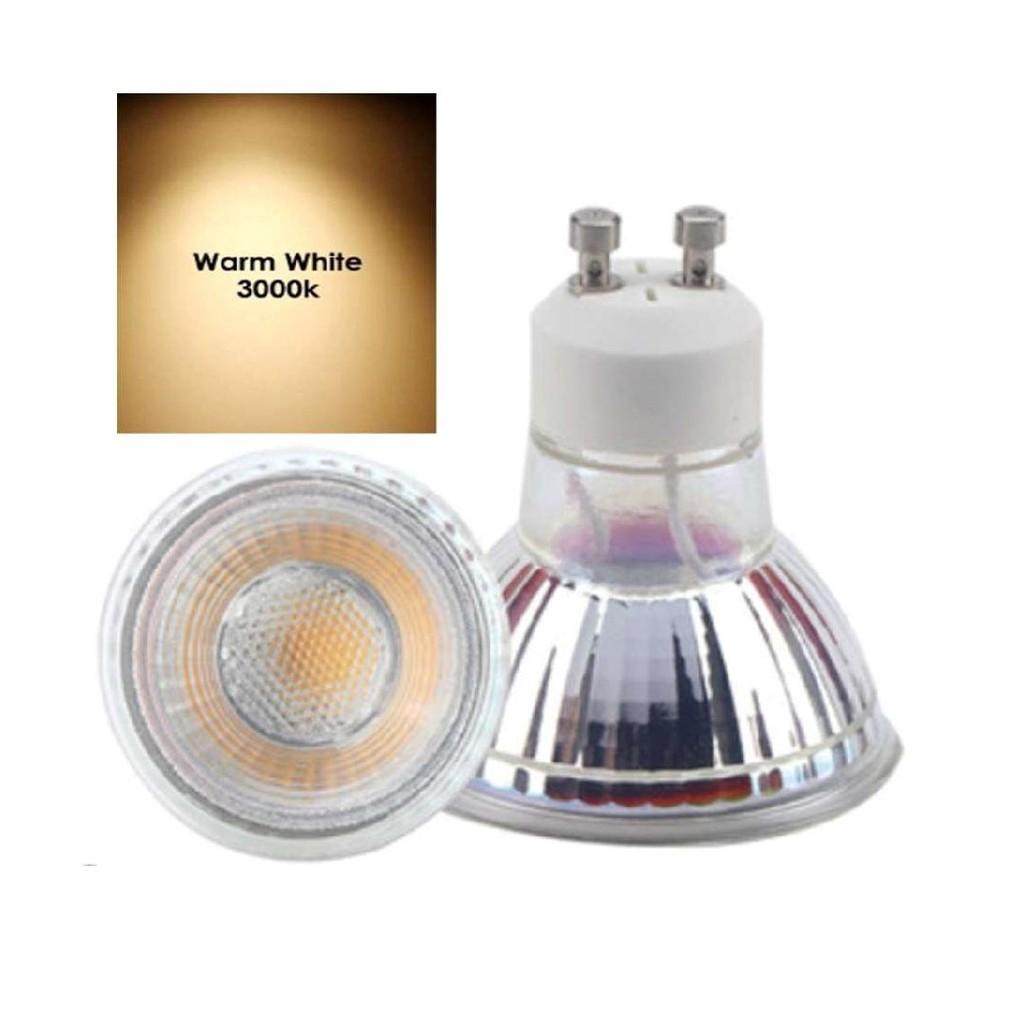 Glass Bulb Premium GU10 LED Bulb 5W 3000k Warm Light (Yellow Light) Mentol GU10 (Cahaya Kuning)