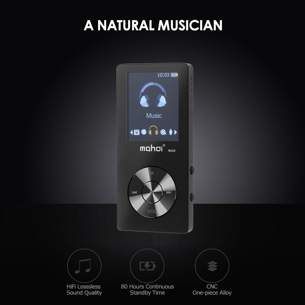mahdi M220 8GB MP3 MP4 Digital Player Zinc Alloy 1 8 Inches Screen Music  Player