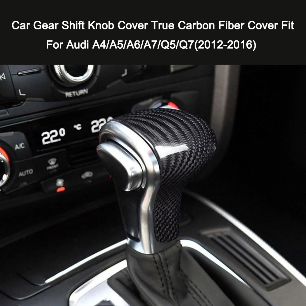 A7 A6 Durable and Light Weight A5 Q5 Q7 Easy to Install Universal Carbon Fiber Car Gear Shift Knob Modified Shifter Lever Knob for Audi A4