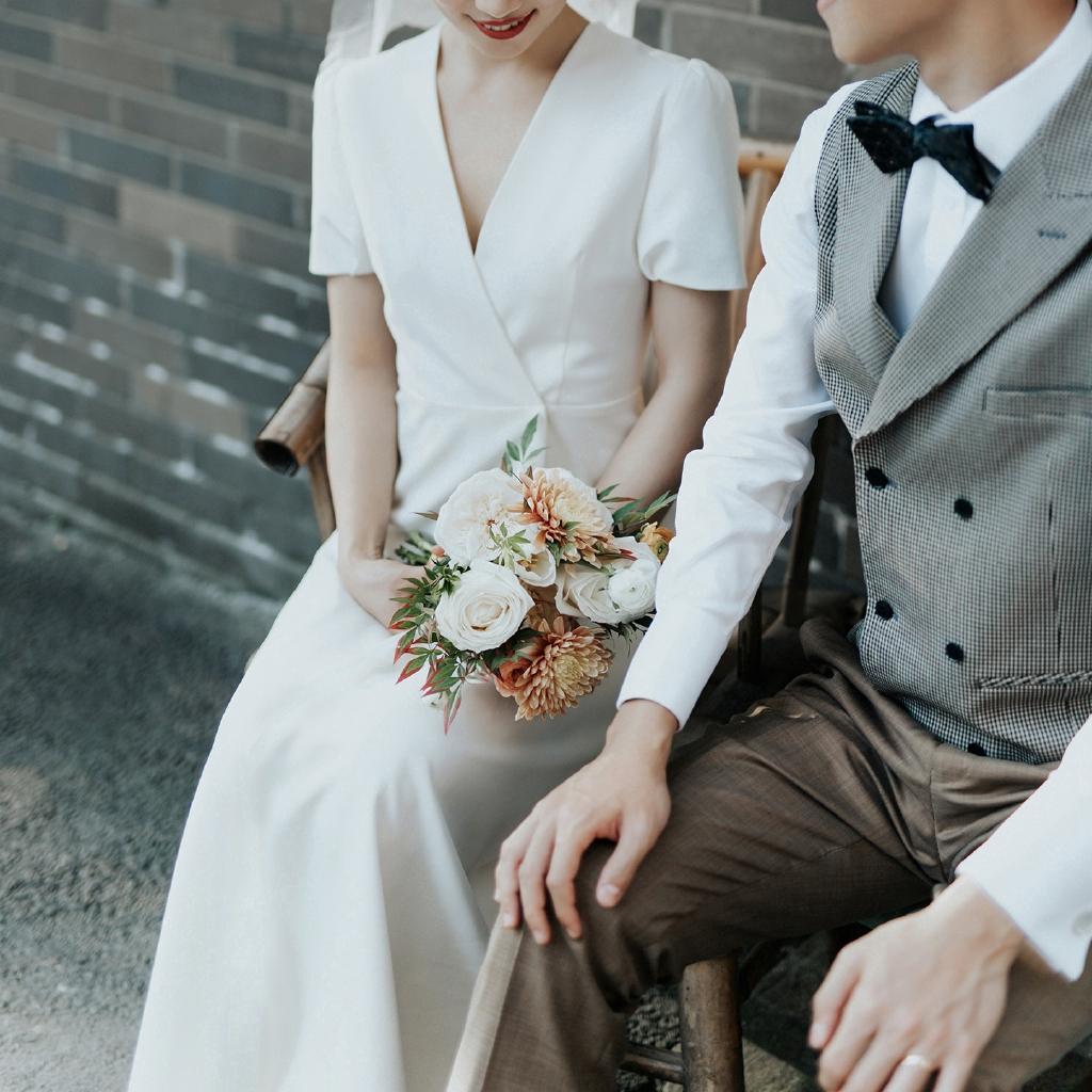 Gaun pengantin Perancis, pakaian sederhana, luar, perjalanan, putih,  langsing, gaun malam panjang, gaun pengantin wanita