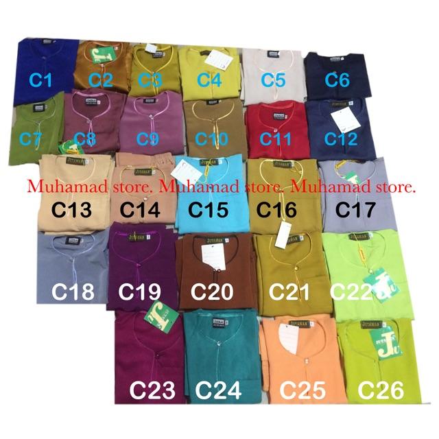 Part 3 Baju Melayu Muhamad Leher Bulat (Baby & Kanak2) Saiz 14, 16, 18 & 20 BMMLBBNK