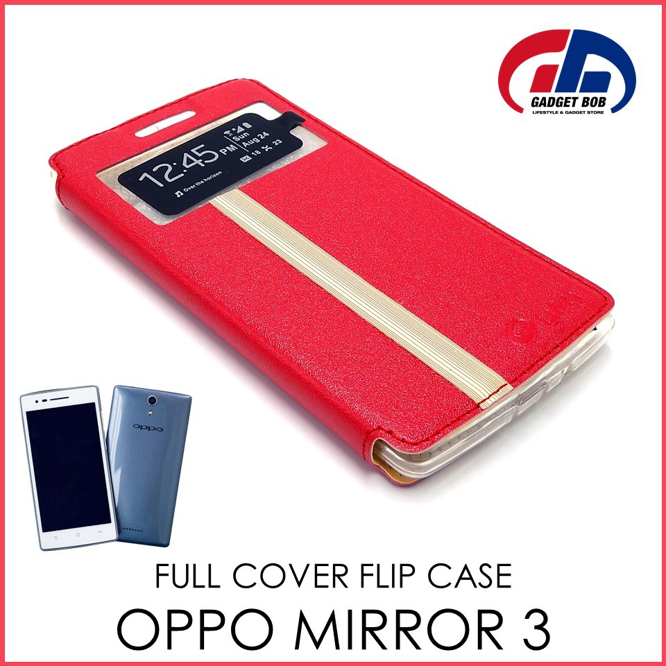 new styles d38b8 7b260 [STOCK CLEARANCE] Full Cover Flip Case for OPPO Mirror 3 R3006