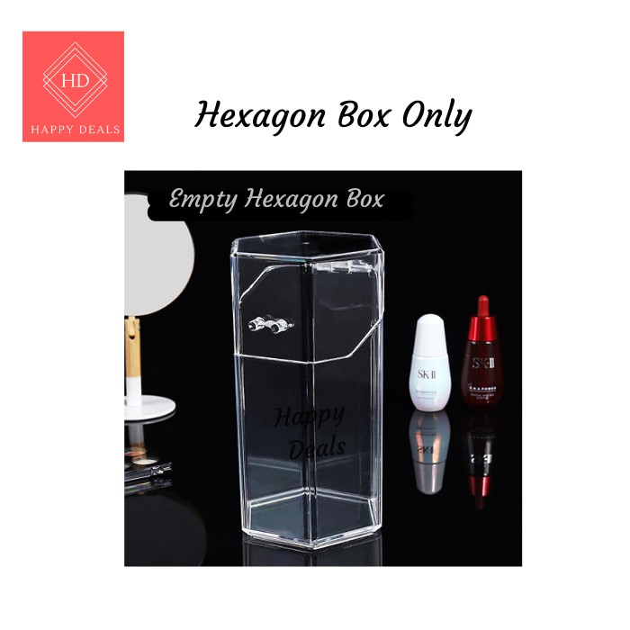Happy Deals Acrylic Clear Dustproof Cosmetic Organizer Makeup Brush Storage Case Holder Box ( Included Pearls Holders)