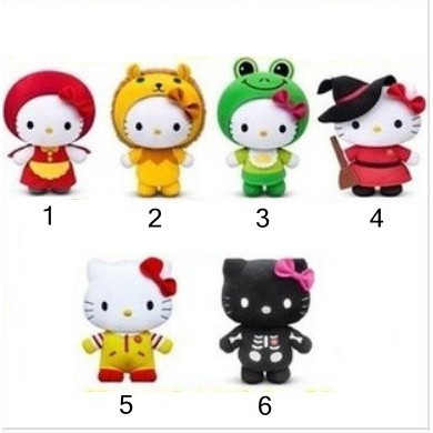 McD 2012 Classic Hello Kitty Fairy Tales Series Plush Toys