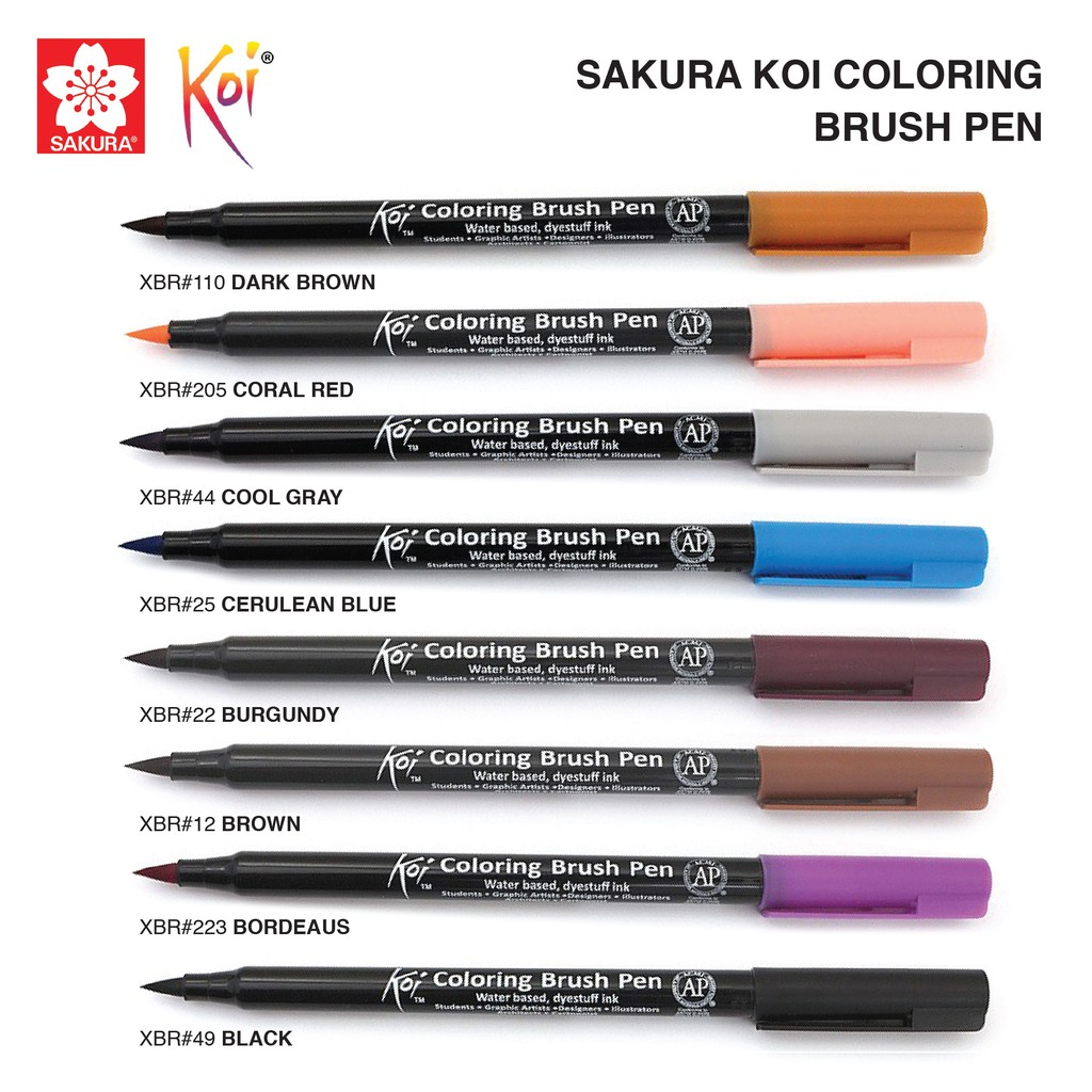 Sakura Koi Coloring Brush Pen (List 6 / 6) | Shopee Malaysia