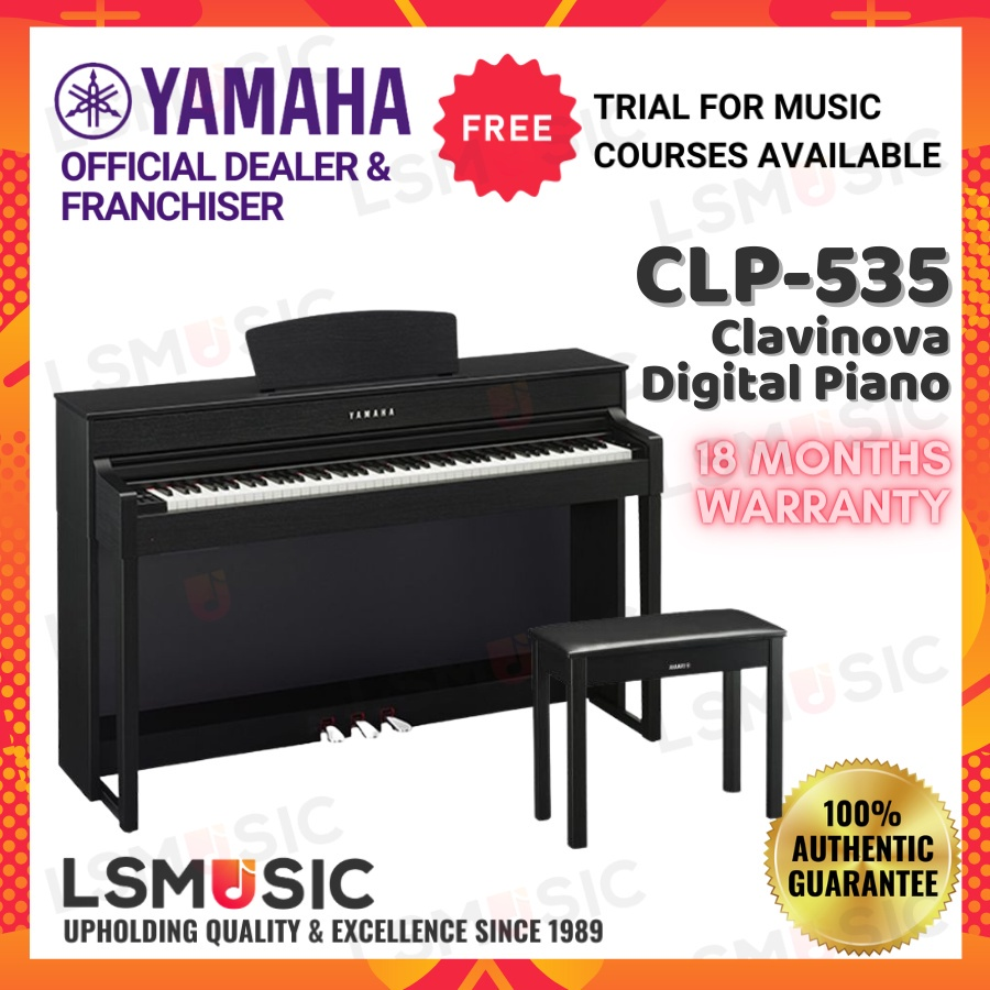 Yamaha Clavinova Digital Piano CLP535 ( CLP-535 / CLP-535B ) Black