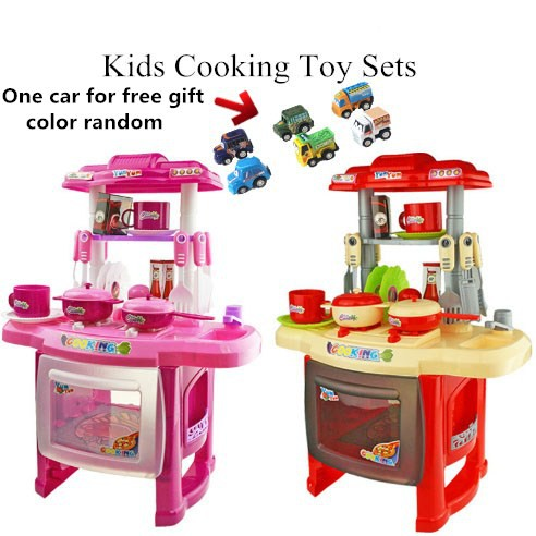 Baby Kids Pretend Play Multifunctional Kitchen Toys Set Cooking Set Shopee Malaysia