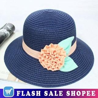 97b15a487 Beach Travel Hats Women Sun Floppy Hat Wide Brim Flower Straw ...