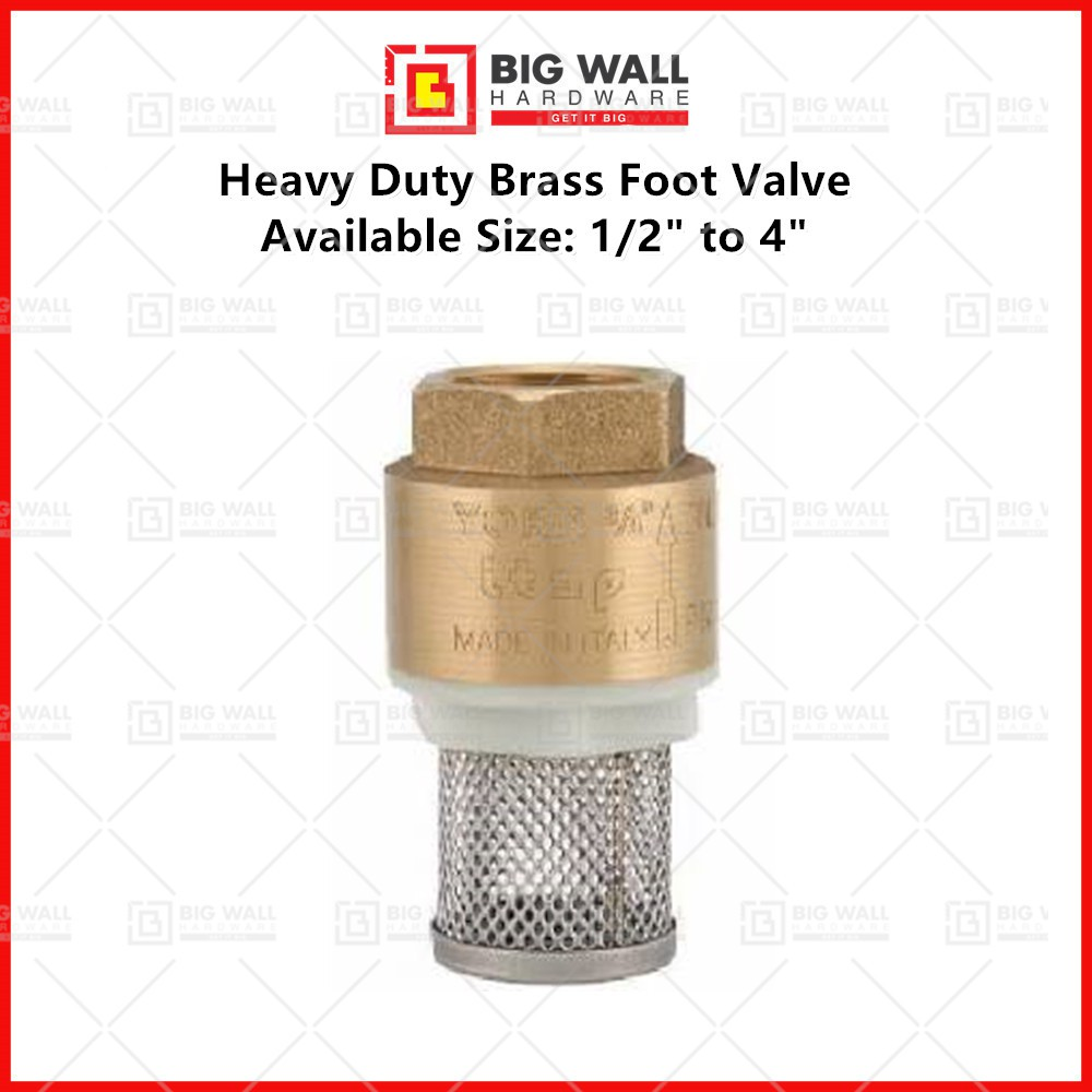 """VLR Itap Heavy Duty Brass Foot Valve - York Available in Various Sizes 3"""" & 4"""" inch 意大利旦弓花兰脚 Big Wall Hardware"""