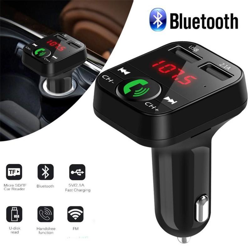 Car MP3 Player Car Kit Handsfree Bluetooth FM Transmitter LCD USB Charger