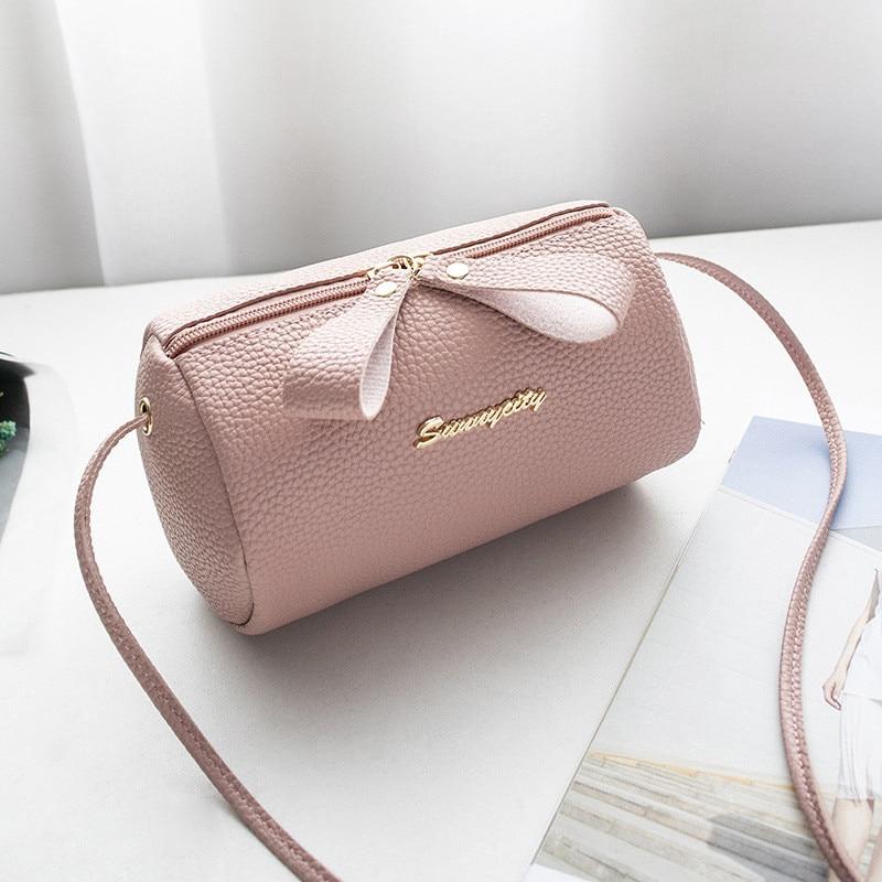 a47a8b9a5b2 Women PU Leather Mini Handbag Cute Small Shoulder Bag Ladies CrossBody Bag  Tote Messenger