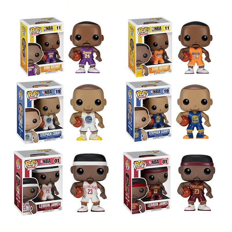 13409beafe3a FUNKO POP NBA Player Stephen Curry Lebron James Kobe Lakers Action Figure  Model