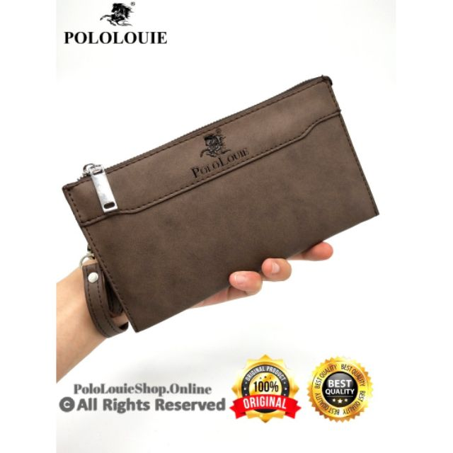 Ready Stock 🇲🇾 Polo Louie PREMIUM Quality Unisex Leather Clutch Bag Wallet