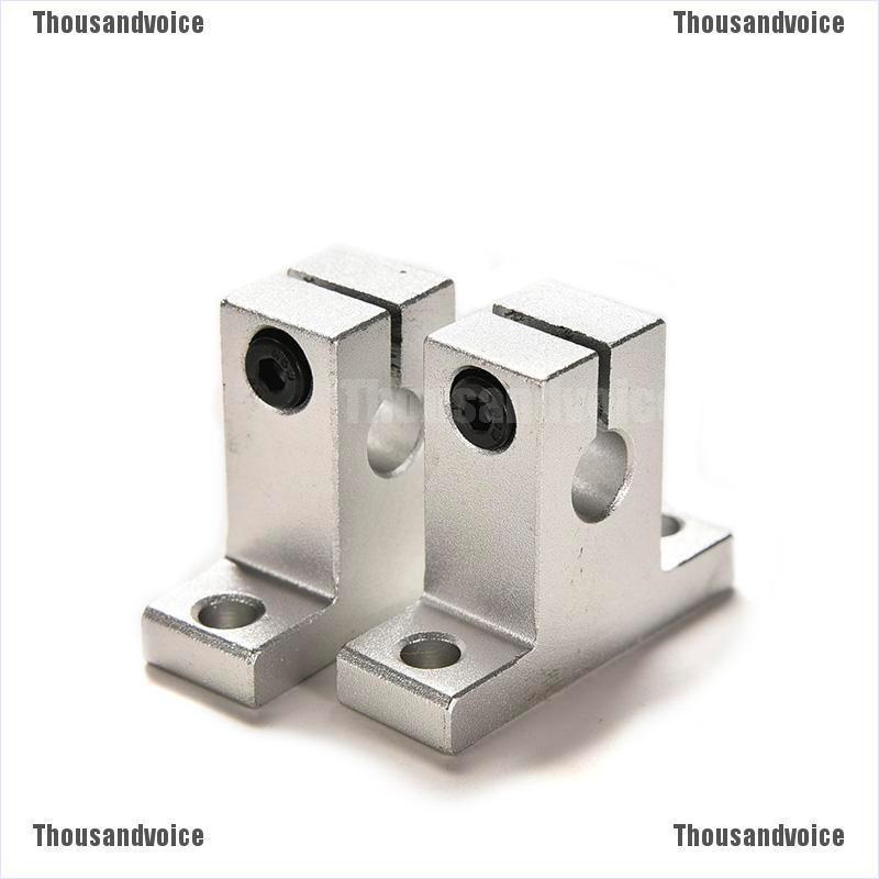 4pcs SK8 8mm Bearing CNC Aluminum Linear Rail Shaft Guide Support
