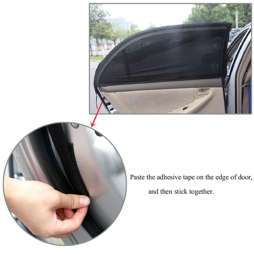 5pcs//set Car Window Sun Shades Cover Anti-UV Mesh Shade Curtain Protec/>v