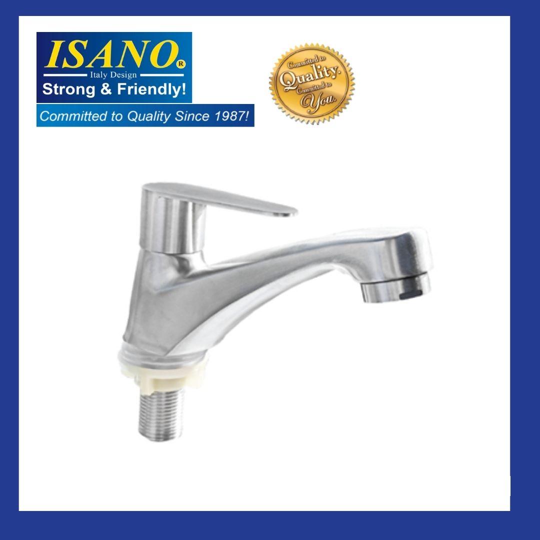 ISANO 1100BI Basin Pillar Straight Water Tap Kitchen Bathroom Washroom Toilet Sink Bib Air Kepala Paip Faucet