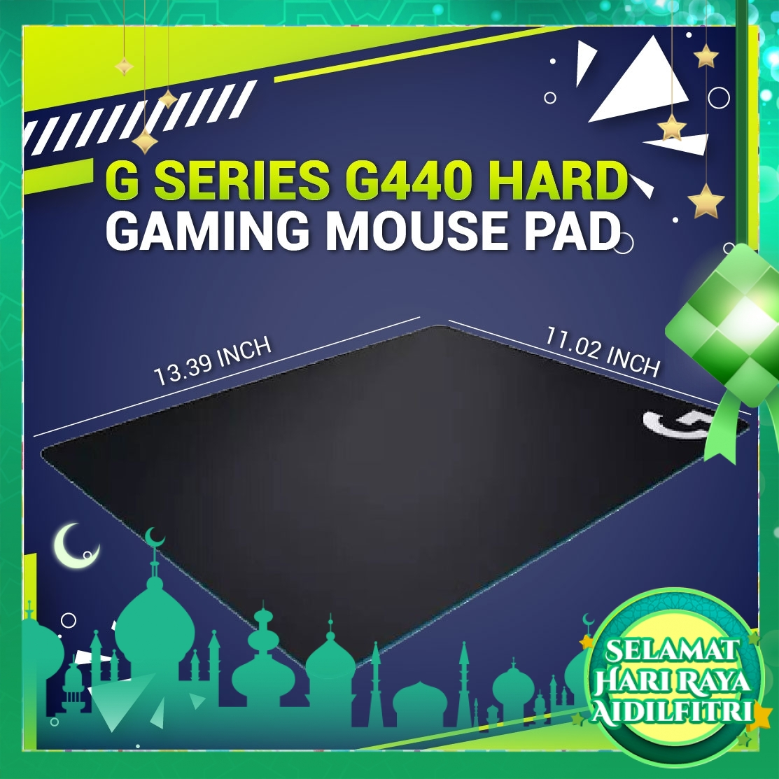 Logitech G440 Hard Gaming Mouse Pad - Original (EXTRA Protection + Fragile Sticker)