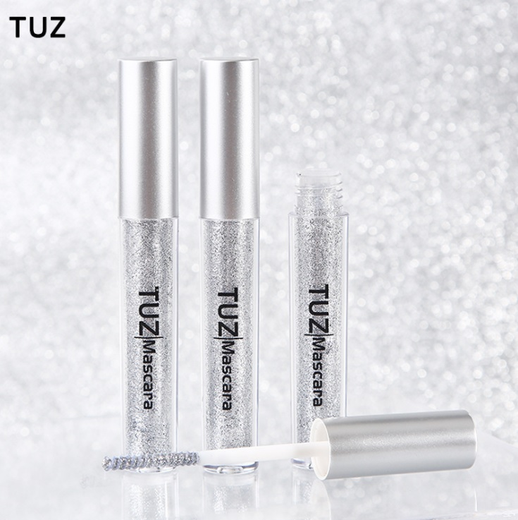 TUZ 5D DIAMOND MASCARA GLITTER SPARKLING LONG LASTING WATERPROOF CURLING EYELASH SHINING LIGHTWEIGHT HOLDING