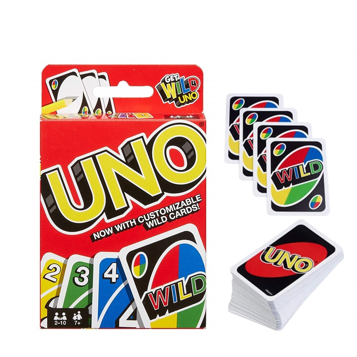 UNO Card Game Cards With Customizable Wild Card