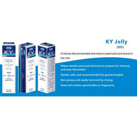 Durex K-Y Jelly Personal Lubricant 50g X 3