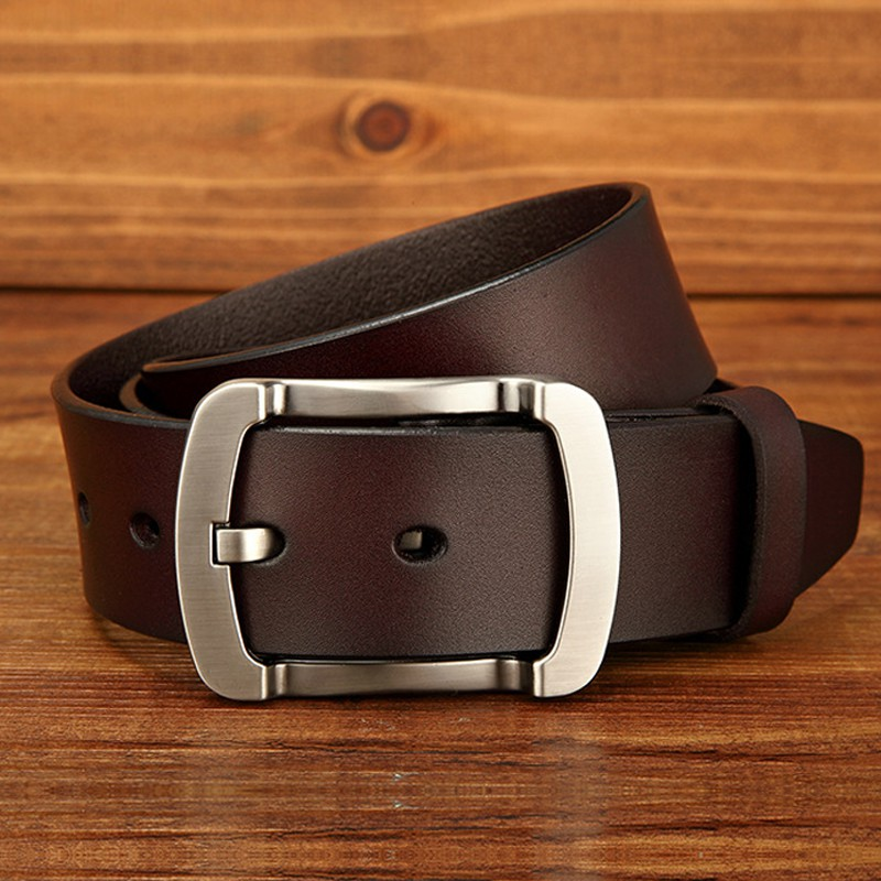 e56ab27551623 ProductImage. ProductImage. Mens fashion belts cowhide genuine leather  Luxury Straps pin buckle vintage jean