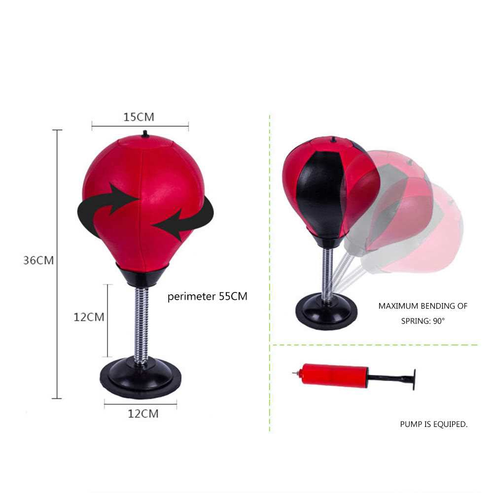 Great Discount Desktop Punching Speed Ball Leather Stress Buster Heavy Duty Suction Pressure Reliever Freestanding Refl