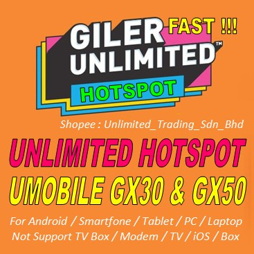 Umobile gx30 Yes 4G unlimited Bypass Hotspot Android Only