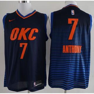 pretty nice 956dd 86fe7 NBA Oklahoma City Thunder Carmelo Anthony # black basketball ...