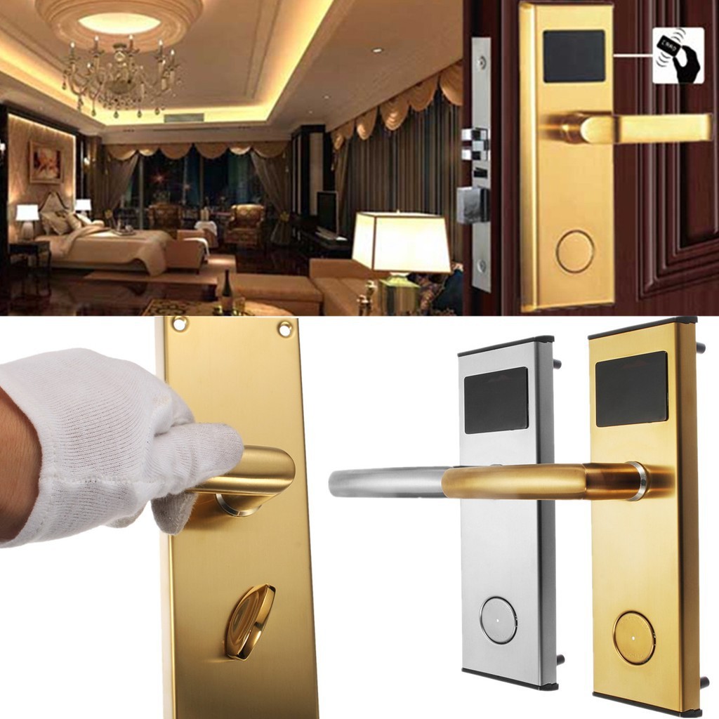 【HOT】 Electronic Digital Smart Password Door Lock Keypad Touch Screen With  RFID Card