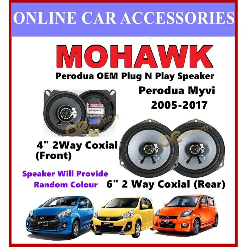 MOHAWK Plug & Play Front & Rear OEM Speaker For-(Perodua Myvi 2005/Myvi Lagi Best/Myvi Icon)